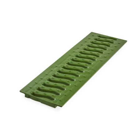 Решетка DN100  пластиковая волна(зеленый папоротник)