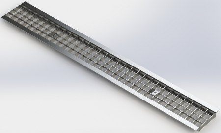 Решетка DN100  сварная оцинкованная