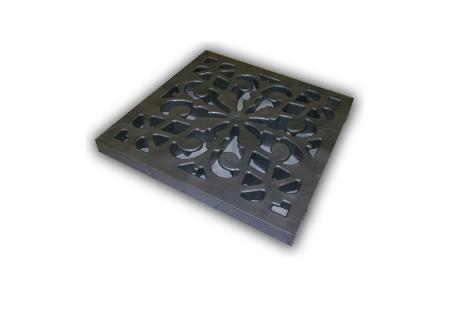 Решетка пластиковая декоративная(металлик)