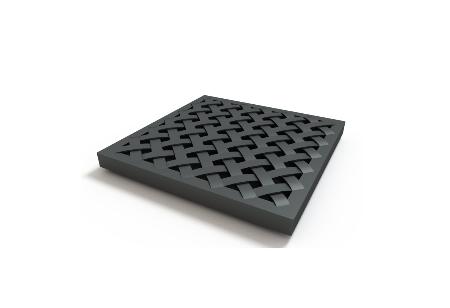 Решетка пластиковая усиленная(черный)