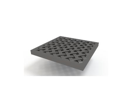 Решетка пластиковая усиленная(металлик)