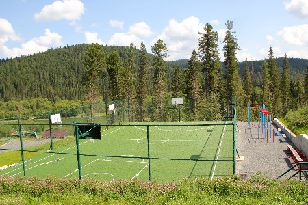 Спорт площадка c спортивным покрытием Ecoteck Sport Таёжный курорт Горная Саланга